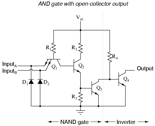 Ttl nand and and gates electronics forums - Table circuit ...