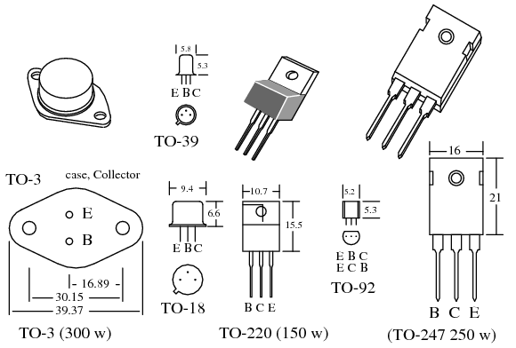 transistor ratings and packages