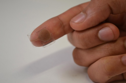Adaptive artificial skin prototype designed by EPFL.
