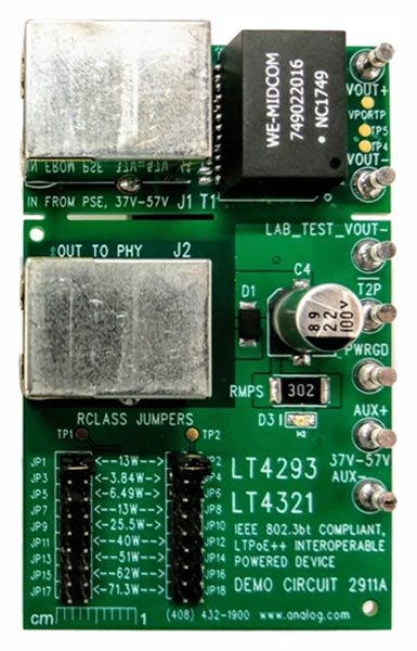 Analog Devices' DC2911A evaluation board