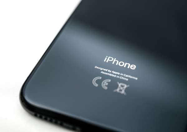 Image of the back of an iPhone showing that it was assembled in China.