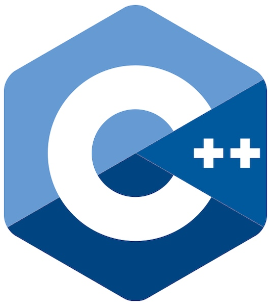The logo of the C++ programming language.
