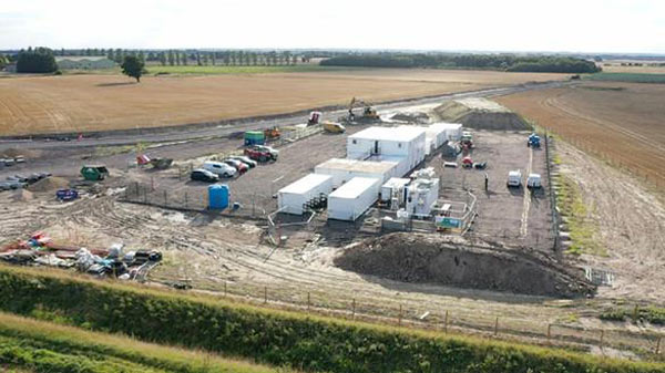 Construction work has begun at the under-construction Viking Link site in Lincolnshire, pictured above.