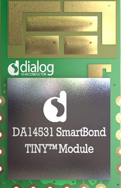 Planned for release in Q1, 2020: the DA14531 (nicknamed SmartBond Tiny) module for user-friendly Bluetooth operations.