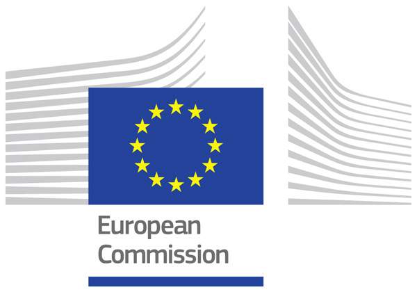 European Commission official logo, which is based on 2 key elements: the European flag and graphic element inspired by the headquarters of the European Commission.