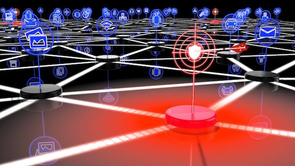 Source code IoT and cybersecurity concept image.