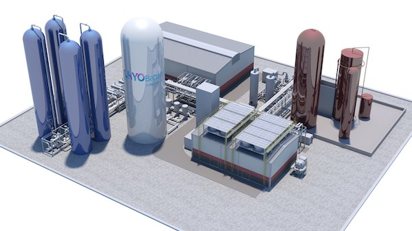 Highview Power concept art CRYObattery energy storage plant.