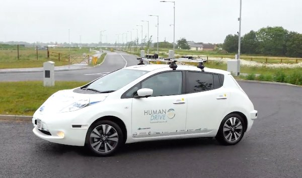 A Nissan autonomous vehicle.