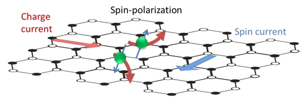Illustration of spin Hall effect.