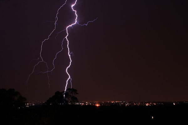 Nature's most prominent example of triboelectricity in action: lightning.