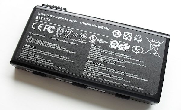 a lithium-ion battery