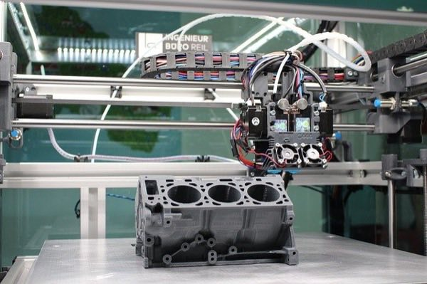An example of manufacturing robotics in operation.