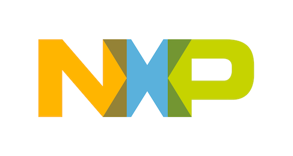 A colored version of the NXP logo.