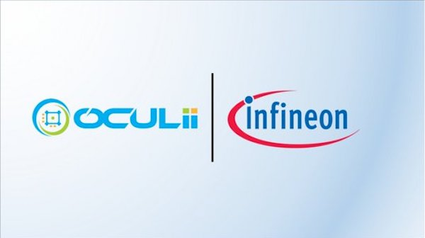 Oculi and Infineon partnership promotion ad.
