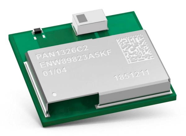 The PAN1326C2 Bluetooth RF module.