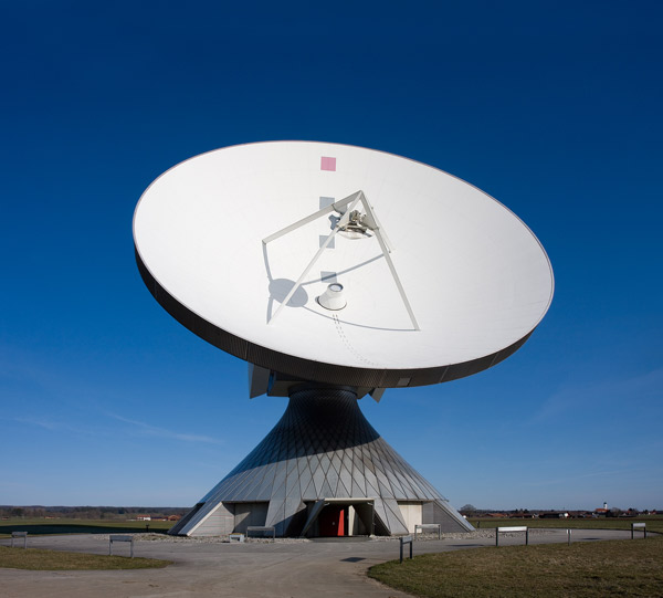 An example (based in Bavaria, Germany of a parabolic satellite for microwave transmission.