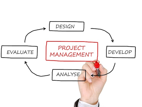 An illustration of a typical project management cycle