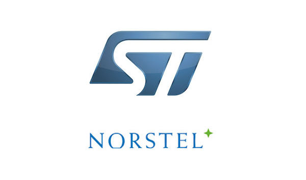 Norstel and STMicroelectronics logos.