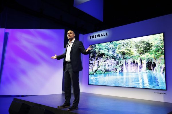 Samsung presenting the first MicroLED TV at CES 2020.