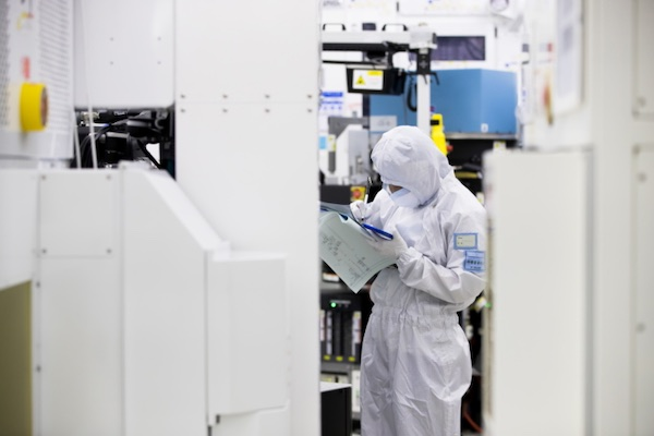 A semiconductor cleanroom.
