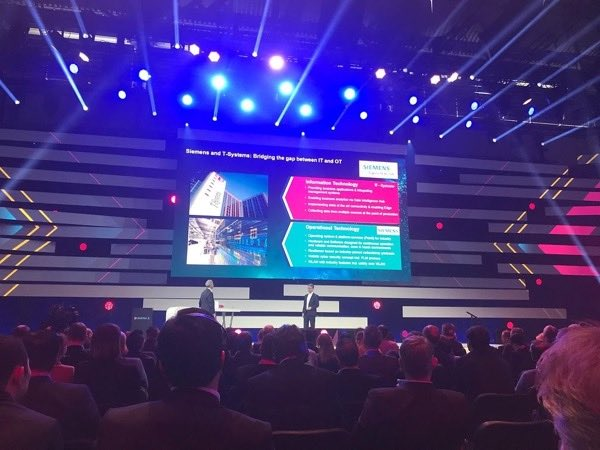 An event hosted by Siemens to announce T-Systems and Siemens' partnership, formed in the interest of driving the digitalisation of Germany's industrial landscape.