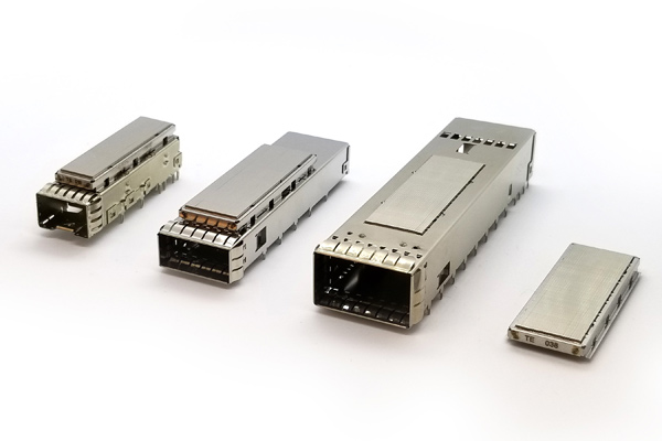TE Connectivity's latest thermal bridge technology that is two times better and reliable. It includes samples for SFP+, QSFP-DD, and QSFP-28.
