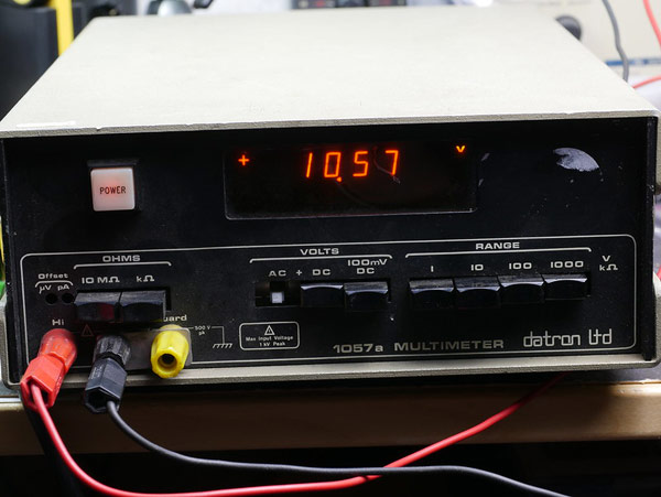 A tabletop digital multimeter (the 1057a from Datron Electronics).