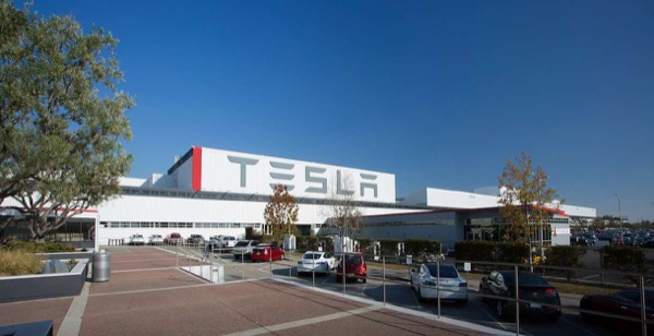 Tesla assembly factory in Fremont, California