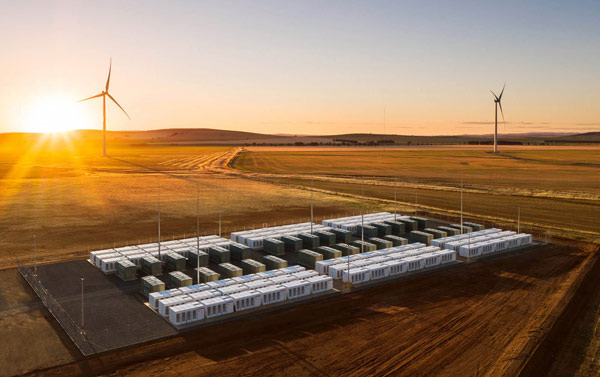Tesla's giant battery in South Australia: the Hornsdale Power Reserve.