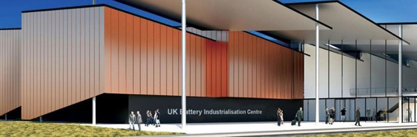 The £108 million Battery Industrialisation Centre currently under construction in Coventry.