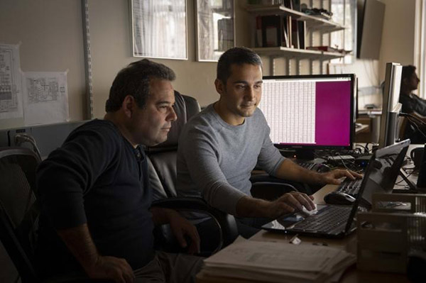 Worcester Polytechnic Institute security researchers Berk Sunar (left) and Daniel Moghimi (right) have discovered security vulnerabilities in computer chips made by Intel Corp and STMicroelectronics