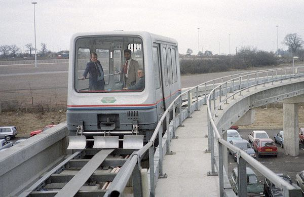 A commercial maglev train.