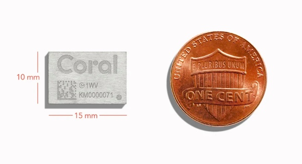 Coral accelerator module developed by Murata Electronics and Google.
