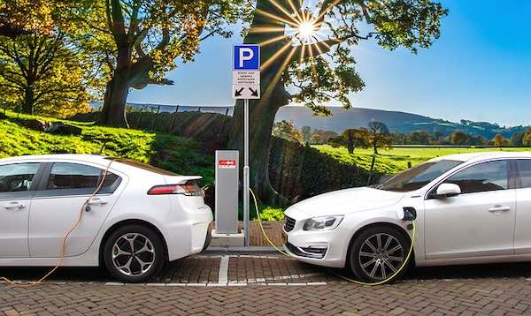 Electric vehicles charging.