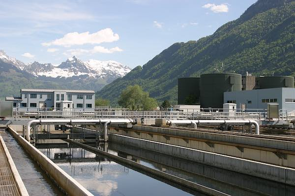 A wastewater or sewage filtration plant in Switzerland.