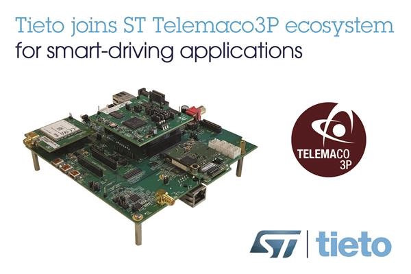 Tieto and STMicorelectronics ad for Telemaco3P ecosystem partnership.