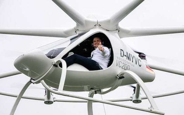 A volocopter aircraft